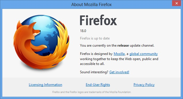 Free Download Mozilla Firefox 18.0 Update Terbaru 2013