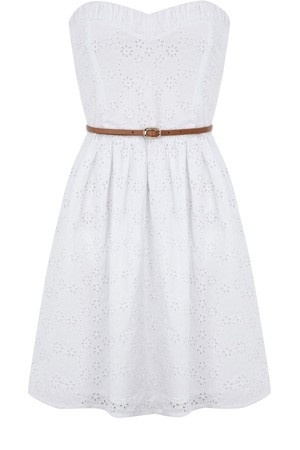 Beautiful White Sleeveless Dress