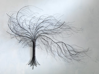 Metal Tree Sculpture Wall Art Decor