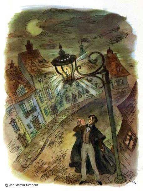Ilustración de libro de cuentos por Jan Marcin Szancer