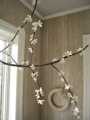 spring branches, blossoms, tutorial, craft project