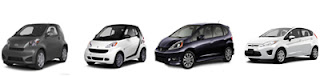 2013 Scion iQ, Smart ForTwo, Honda Fit, Ford Fiesta