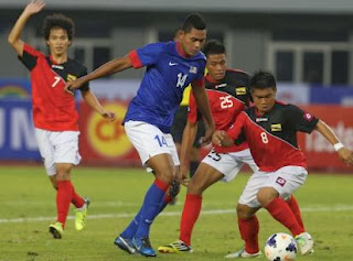 Myanmar Sea Games 2013 Malaysia win over Brunei 2 0