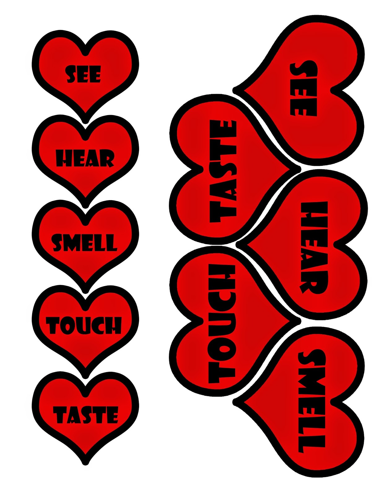 UPDATE: People have asked if I could include a printable version of the heart-shaped labels. So, here goes!