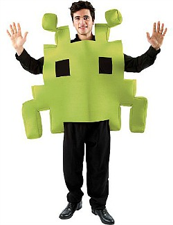 Green Space Invader Costume