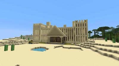 Minecraft sand castle