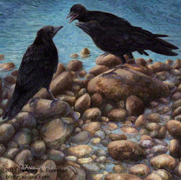 """Negotiation""  © Barbara A. Freeman, M.A.A.    Fine Art Miniature"