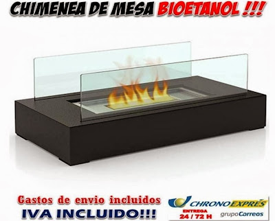 chimenea Bioetanol sobremesa