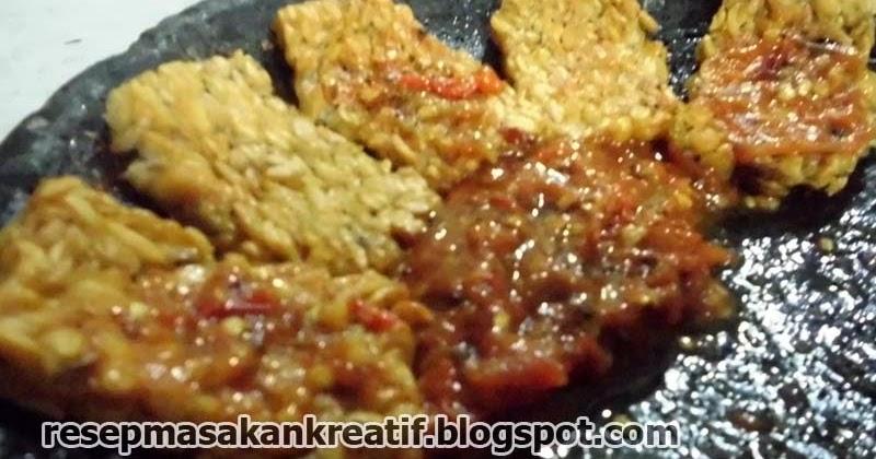 resep tempe penyet dan sambal enak pedas   aneka resep