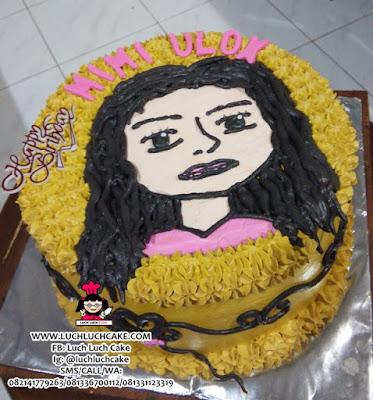 Kue Tart Gambar Wajah Cantik