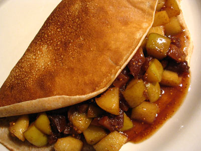 Pear and Fig Whole Wheat Pancakes