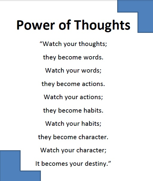 using the power of thought to Focused thoughts focus energy, and energy moves energy  let's use another  example  you don't have to use the most powerful power of the mind it isn't a.