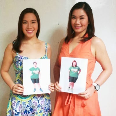 Tin and Dianne Obsina from Biggest Loser Pinoy Edition Doubles