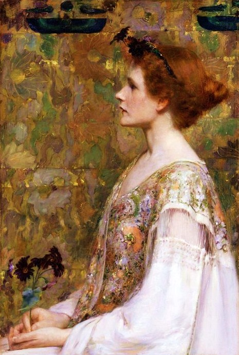albert herter red hair