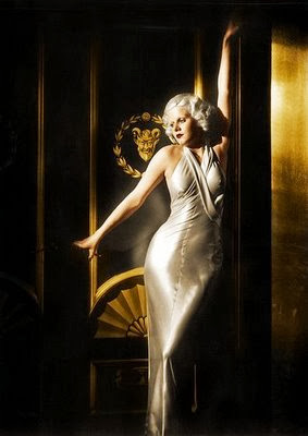 Jean Harlow in sexy gown
