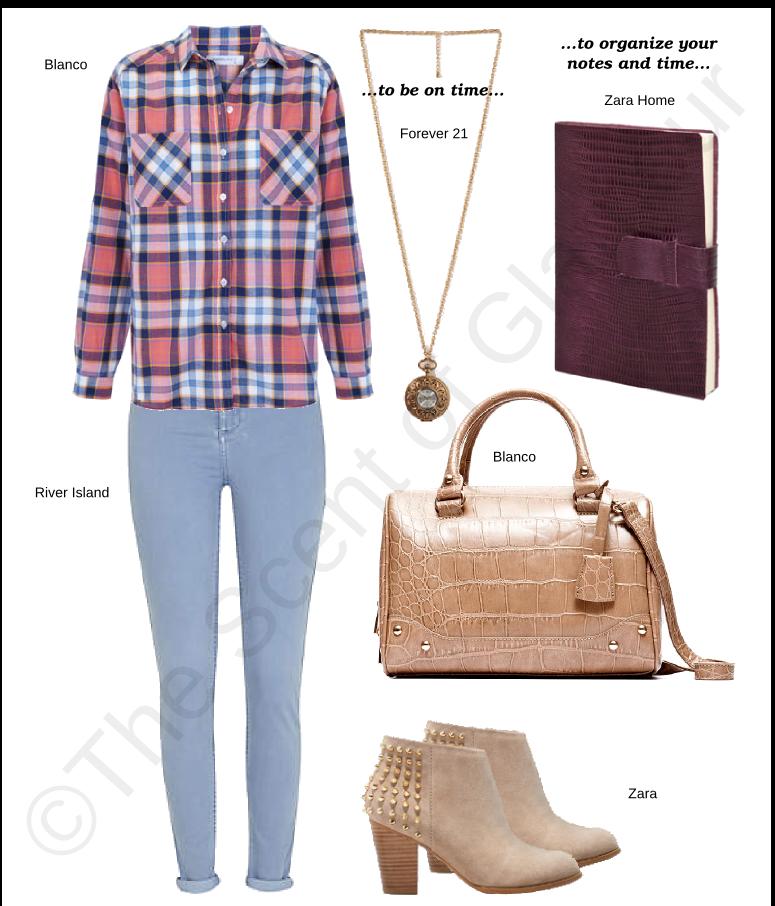 blanco shirt, river island jeans, forever 21 necklace,  blanco bag, zara shoes, zara home notebook