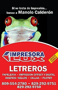 Si se trata de Impresión..... busca a Manolo Calderón - IMPRESORA LUX - Higuey