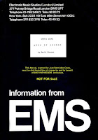 INFORMATION FROM EMS