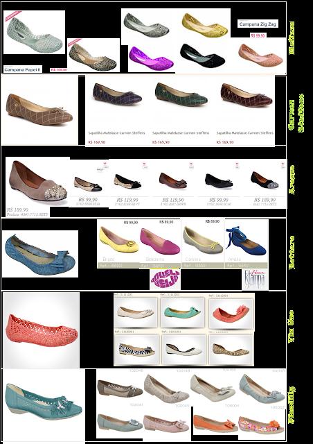 vários modelos de sapatilhas