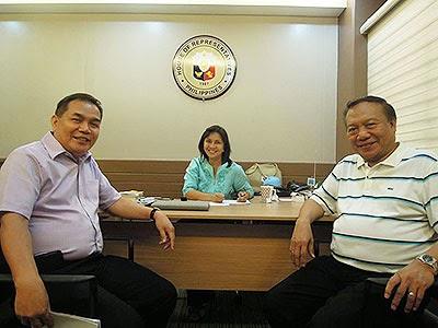 Vice Gov. Ato Pena, Cong. Leni Robredo, Cong. Sal Fortuno