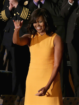 Michelle Obama Shines in Yellow Get Dressed for State of the Union