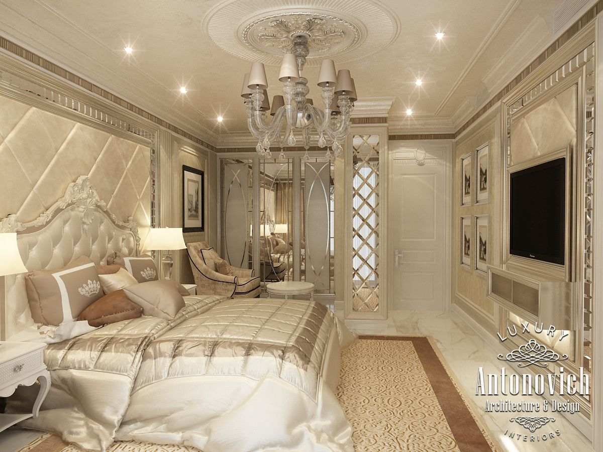 Luxury antonovich design uae master bedroom from katrina for Modern home decor dubai