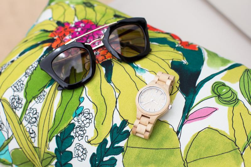world market outdoor pillow, #jordwatch, jord wood watch, prada inspired sunglasses