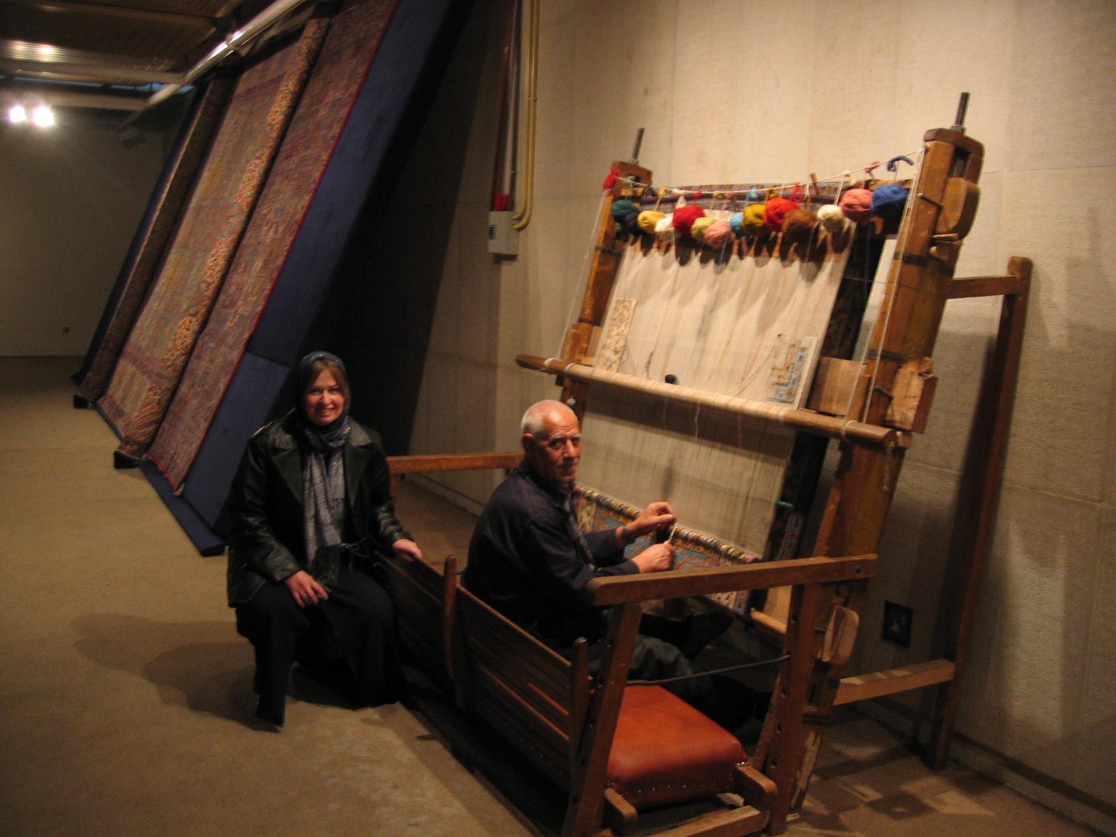 Carpet Weaver At The Museum In Tehran