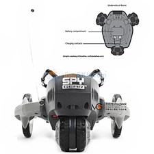 Super Cool IR Remote Control Sound-recording Gear Robot with Claw and LED Light