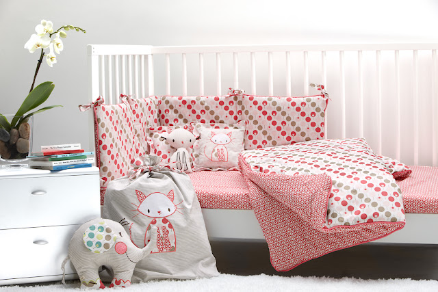 Ella & Otto | Nursery Bedding | Lollipop Tearose