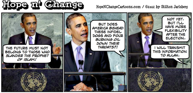 Obama UN speech prophet Islam, hopenchange, hope n' change, hope and change, stilton jarlsberg, tea party, election, obama jokes