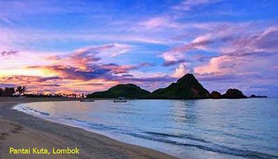 Sunset Pantai Kuta, Lombok