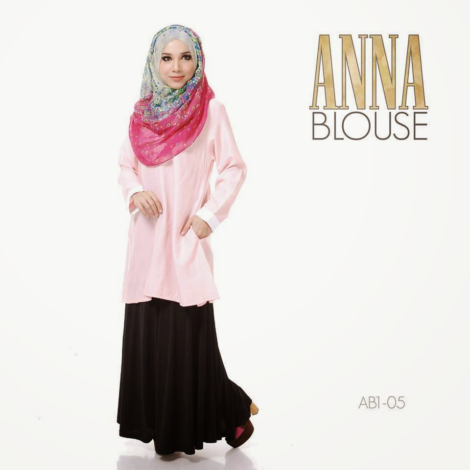 Anna Blouse Dengan Warna Warn Lembut Yang Sangat mencuit Perasaan