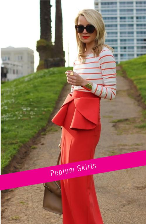 Spring Trends - Peplum skirts | via colourfulcarla.com