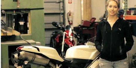 Hannah Johnson at Ducati Workshop