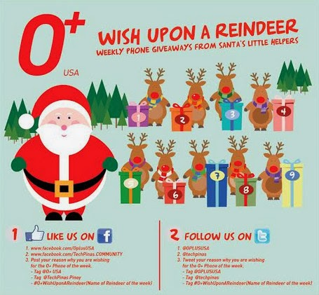 OPlus Android Smartphones, O+ Wish Upon A Reindeer Giveaway