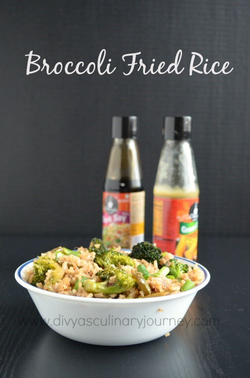 Easy to make fried rice using Broccoli in Indo-Chinese style