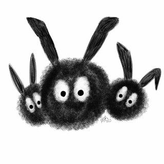 pardon this dust, dust bunny cartoon