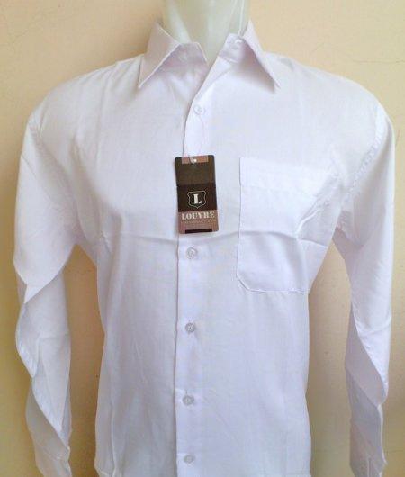 Kemeja Kerja Putih Polos Lengan Panjang Semi Slim Fit