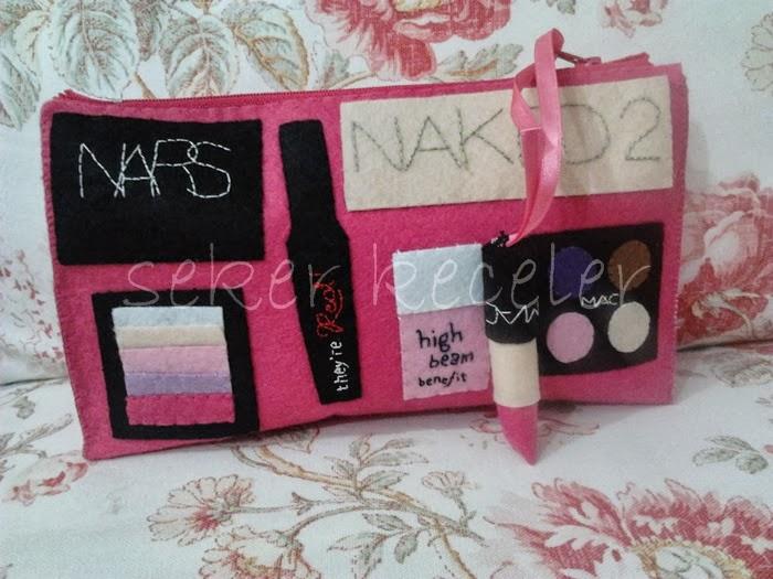 Özel Tasarım Makyaj Çantaları /  Çanta İçi Düzenleyiciler
