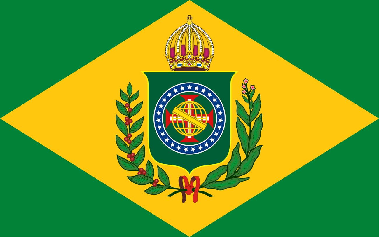 Bandeira do Brasil Imperial - Atualizada com as 27 Estrelas - Versão (10 X 16)