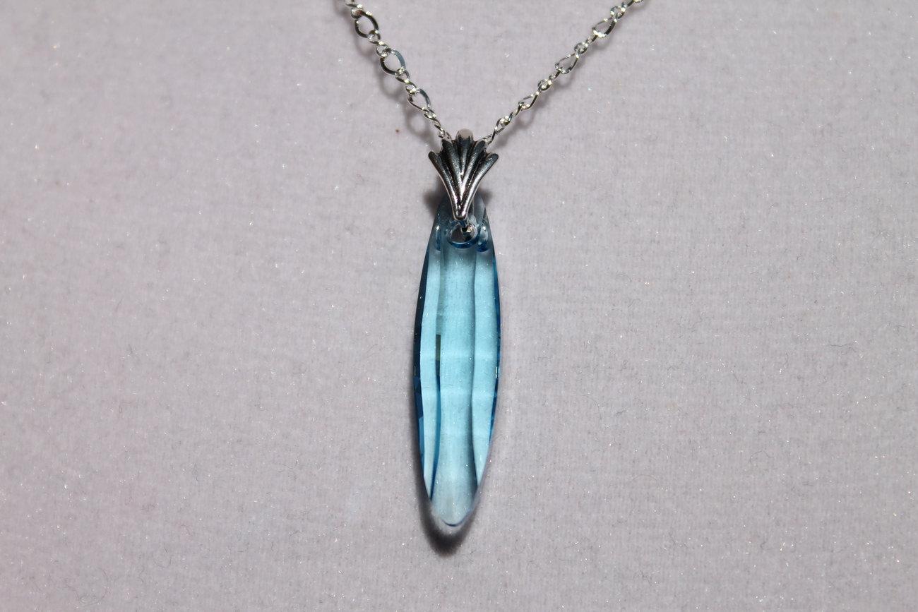 moons jewelry blue pendant swarovski pendant with
