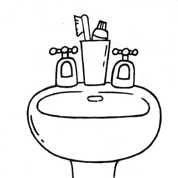 Baños Infantiles Imagenes:Dibujo De Bano Para Colorear