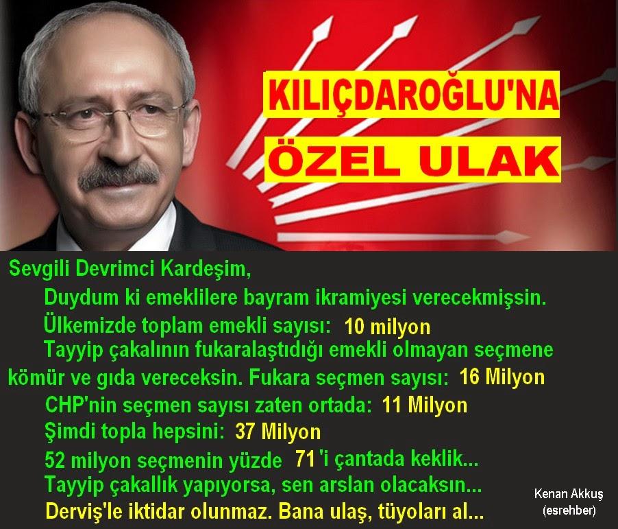 ÇAKAL TAYYİP'İ DEVİRMENİN TEK YOLU