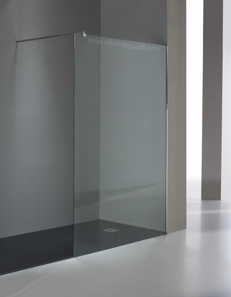 Gu a para elegir la mampara de tu ducha reformas guaita - Cristal fijo para ducha ...