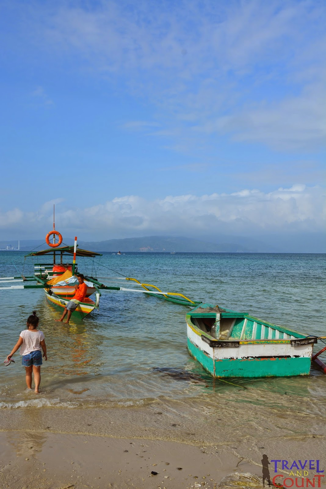 Mini-boat in Sabang Port, Cagbalete Island