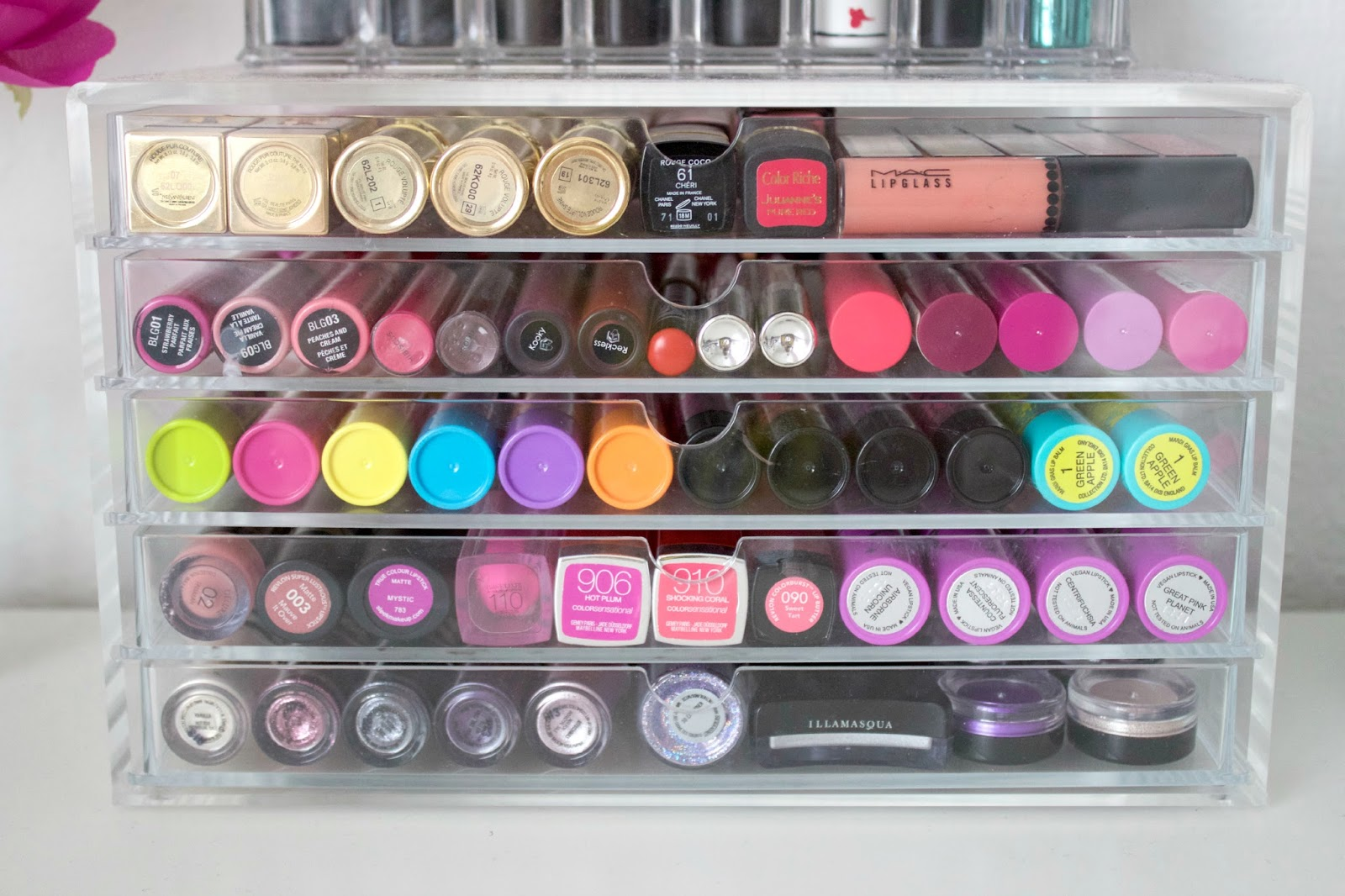 Acrylic makeup storage is very popular with Muji leading the way. Theyu0027ve earnt a very high praising in the beauty community. & Makeup Storage: Muji 5 Drawer - SColvinBeauty