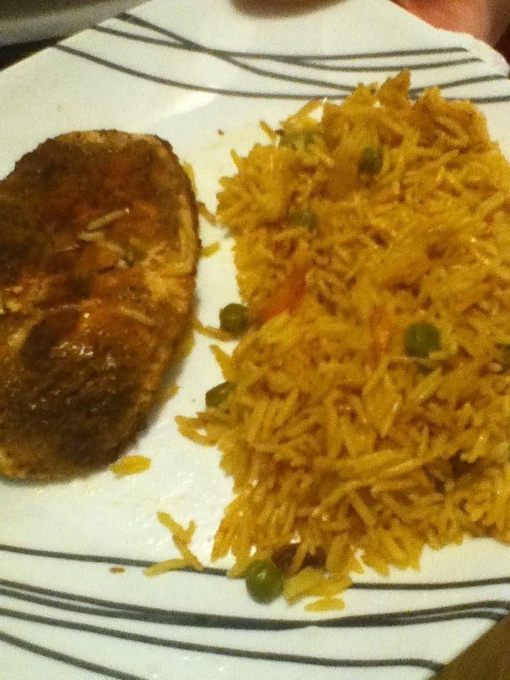 Dinner - Garam Masala Chicken with Basmati Rice Pilaf