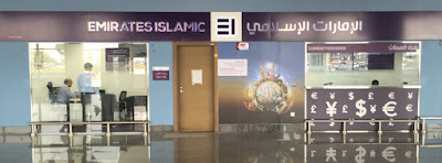 Emirates Islamic's Foreign Exchange Counter at Al Maktoum International Airport at Dubai World Central.