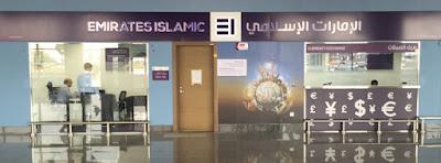 Emirates Islamic's Foreign Exchange Counter at Al Maktoum International Airport at Dubai World Central.